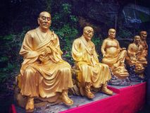 Tio tusen Buddhakloster i Hong Kong Arkivfoto