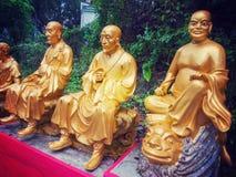 Tio tusen Buddhakloster i Hong Kong Arkivbild
