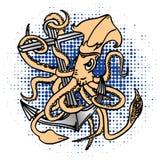 Tioarmad bläckfisk-ankare Royaltyfri Fotografi