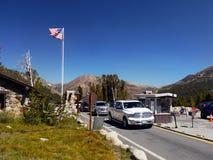 Tioga通行证路优胜美地国家公园,加利福尼亚 库存照片