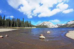 Tioga blue lake in the famous Yosemite Royalty Free Stock Photo