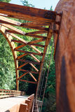 Tioga Bridge Over North Umpqua River stock images
