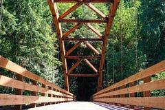 Tioga Bridge Over North Umpqua River royalty free stock photography