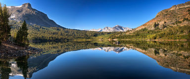 Tioga Lake Reflection Panorama Royalty Free Stock Images