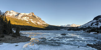 Tioga Lake at sunset, Yosemite National Park Stock Photos