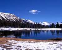 Tioga Lake, Yosemite National Park. Stock Photography