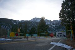 Tioga Pass Entrance Stock Photo