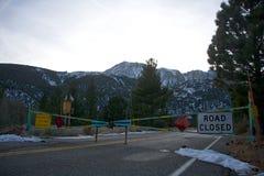 Tioga Pass Entrance stock photo