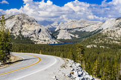 Tioga passerande, Yosemite nationalpark, Sierra Nevada, USA Arkivbild