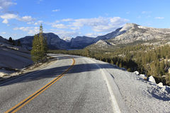 Tioga Road in Yosemite National Park Royalty Free Stock Images
