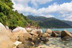 Tioman海岛在马来西亚 免版税库存照片