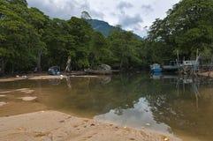 tioman海岛的盐水湖 免版税库存图片