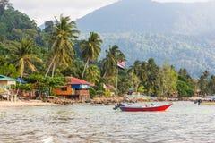 Tioman ö i Malaysia Arkivbild