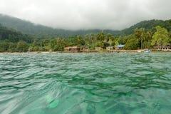 Tioman island. Dynamic wide angle view of abc tioman beach, malaysia Stock Images