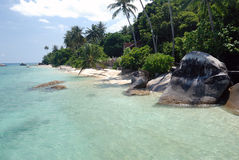 Tioman Island, Malaysia. Exotic beach in South-East Asia Royalty Free Stock Photography
