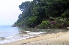 Tioman island in Malaysia. Sand Beach on Tioman island in Malaysia Stock Photos