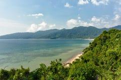 Tioman Island Shore. Island shore and jetty near Tekkek village. Tioman Island, Malaysia, 2012 Royalty Free Stock Photography