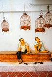 Tiong Bahru gatakonst eller grafitti på väggen Royaltyfria Bilder