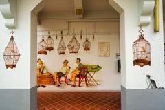 Tiong Bahru gatakonst eller grafitti på väggen Royaltyfri Foto