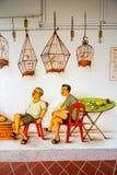 Tiong Bahru uliczna sztuka lub graffiti na ścianie Obraz Royalty Free