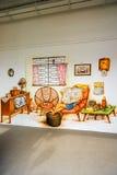 Tiong Bahru uliczna sztuka lub graffiti na ścianie Fotografia Stock