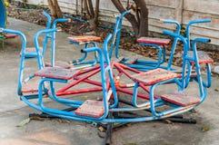 Tiovivo del patio Fotografía de archivo libre de regalías