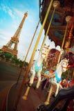 Tiovivo en París Foto de archivo libre de regalías