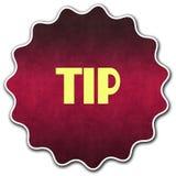 TIP圆的徽章 库存图片