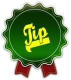 TIP圆的绿色丝带 图库摄影