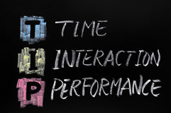 TIP acronym,time interaction Stock Images