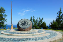 The Tip of Borneo. Landmark at Tip of Borneo in north of Sabah, Malaysia stock images