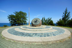 The Tip of Borneo. Landmark at Tip of Borneo in north of Sabah, Malaysia royalty free stock photography