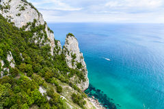 Tip of the friar in Santoña, Cantabria, Spain. The picture shows a perspective view of the tip of the friar in Santoña, a town of Cantabria in Spain. Landscape Royalty Free Stock Photos