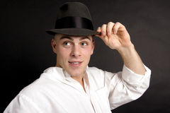 Tip of his hat II Royalty Free Stock Photos