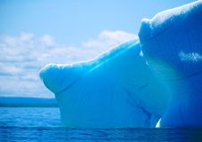 Tip of the iceberg. Was on a whale boat tour off the coast of newfoundland. the whale boat was approaching the iceberg at about 15knots. i had to manually focus Stock Image