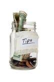 Tip Jar With Money Stock Photos