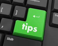 Tip. Keyboard key, tips button on computer pc icon Royalty Free Stock Image