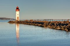 The tip of the Onglous - Marseillan - Occitanie - France. The tip of the Onglous - Marseillan - Herault - Occitanie - France royalty free stock image
