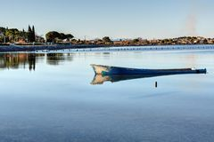 The tip of the Onglous - Marseillan - Occitanie - France. The tip of the Onglous - Marseillan - Herault - Occitanie - France stock photography