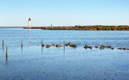 The tip of the Onglous - Marseillan - Occitanie - France. The tip of the Onglous - Marseillan - Herault - Occitanie - France royalty free stock photo