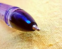 Tip of the pen. With tip Royalty Free Stock Photography