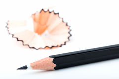 Tip point of black pencils Stock Photography