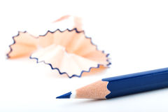 Tip point of blue pencils Royalty Free Stock Image
