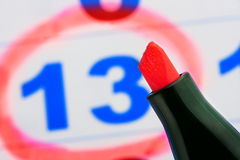 Tip of red marker Royalty Free Stock Images