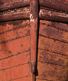 Tip of Rusted Boat Stock Photography