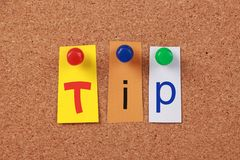 Tip Single Word Stock Photo