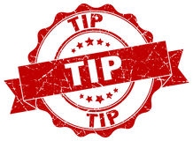 Tip stamp. Tip red stamp. sign. seal Royalty Free Stock Photography