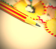 Tip of a striped pencil Royalty Free Stock Photography