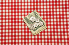 Tip on Table Royalty Free Stock Photo