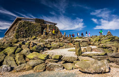 The Tip Top House, on Mount Washington, in the White Mountains o Royalty Free Stock Images